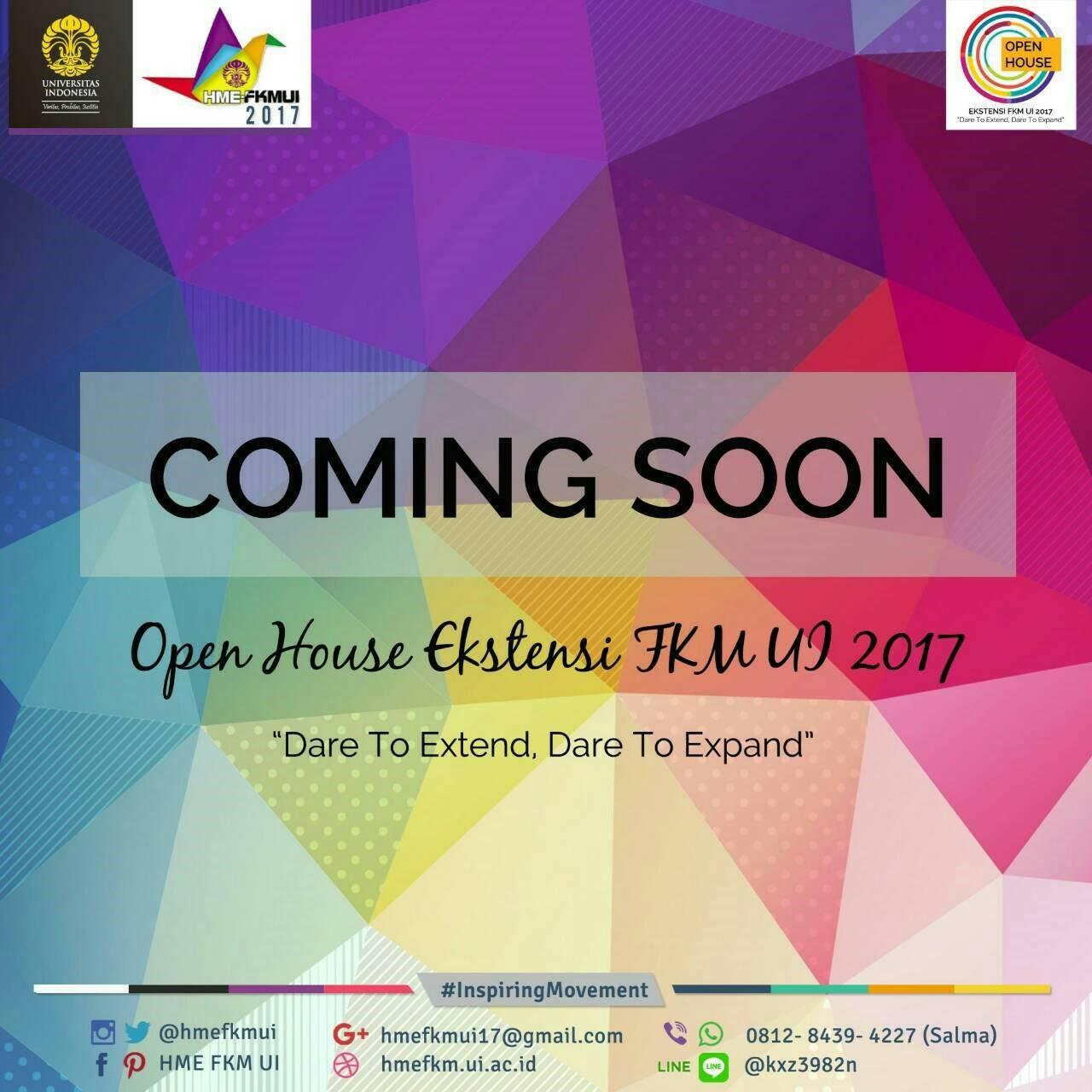 Coming Soon Open House Ekstensi FKM UI