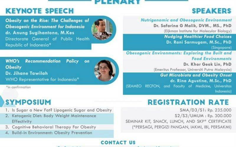 2nd International Seminar on Nutrition 2017