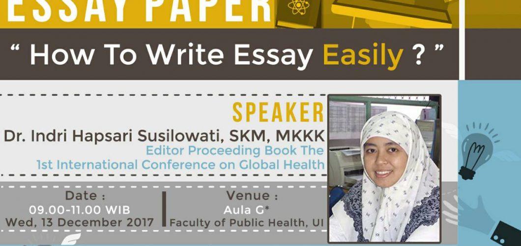 WORKSHOP ESSAY PAPER
