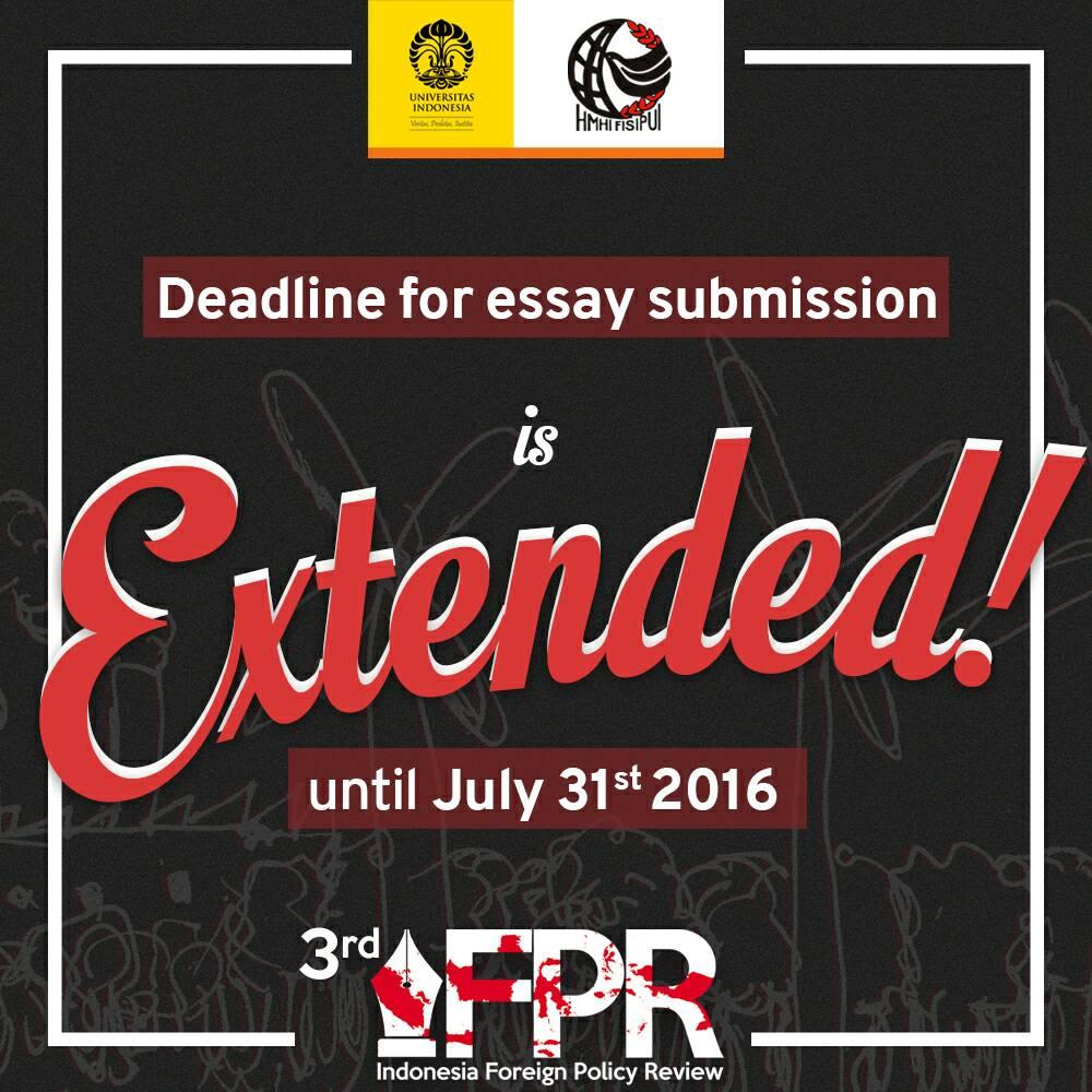 IFPR: Deadline Extended!