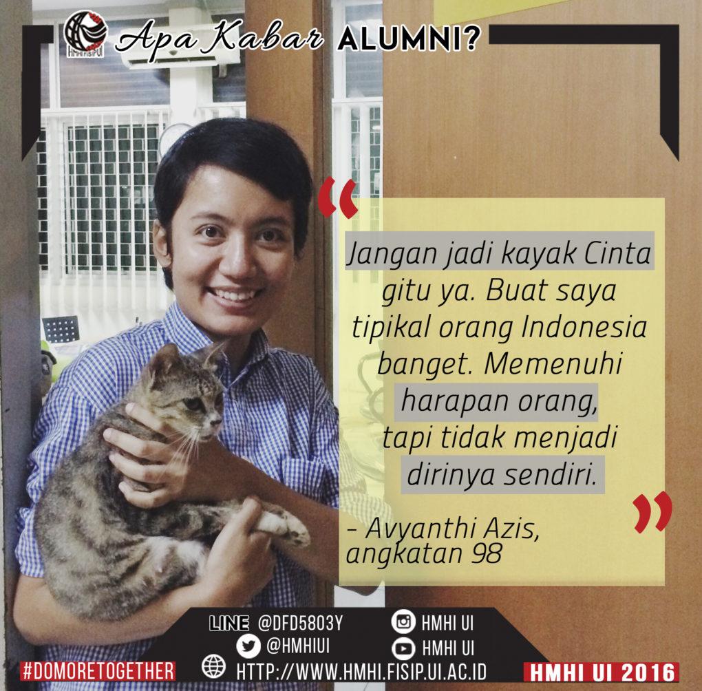 Apa Kabar Alumni? – Avyanthi Azis